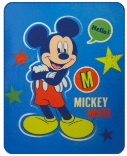 Fleece deka Mickey Expressions 110/140